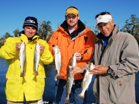 January 2011 alabama inshore fishing forecast and report for Gulf shores inshore fishing